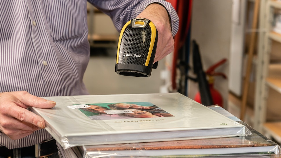 Scanning print products into match and dispatch