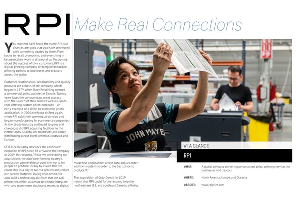 Focus on Manufacturing and the Digital Print Industry